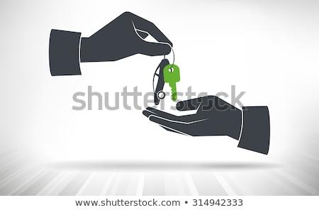 Stockfoto: Auto · hand · auto · sleutels