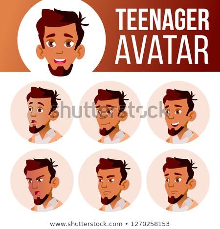 Arab muslim teen Junge Vektor Teenager Stock foto © pikepicture