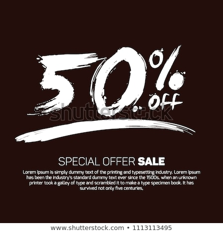 diwali sale  50 off sign vector illustration stock photo © robuart