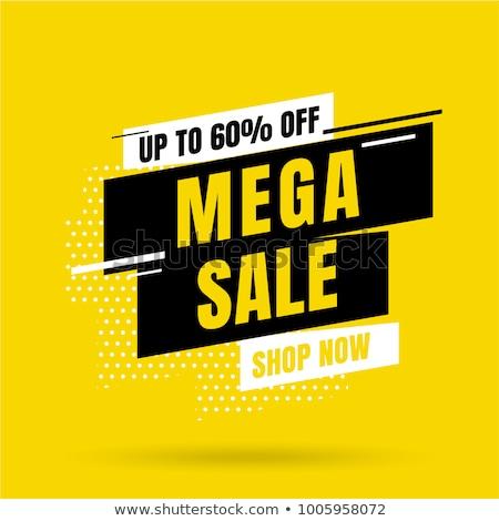 Hot Price Mega Sale Posters Vector Illustration Stock photo © robuart