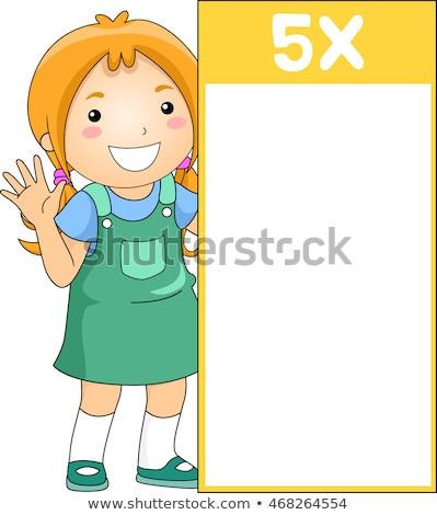 girl on five multiple table stock photo © colematt
