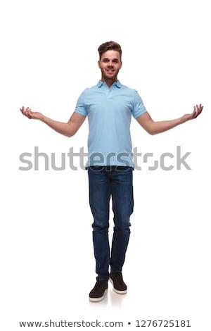 ストックフォト: 魅力的な · 男 · ジェスチャー · 手