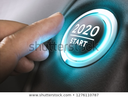 voiture · commencer · bouton · deux · mille · dix-huit - photo stock © olivier_le_moal