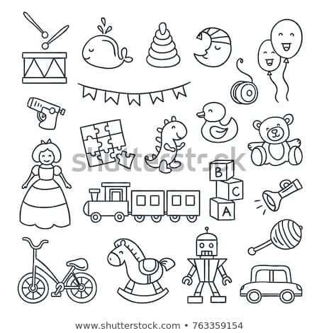 rattle hand drawn outline doodle icon stock photo © rastudio
