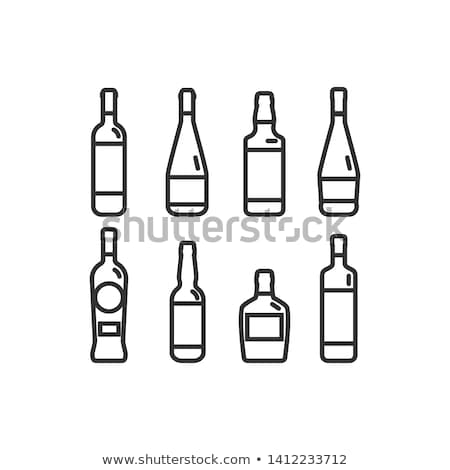 isolé · alcool · bouteilles · verres · plage - photo stock © kup1984