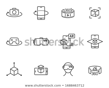 Virtual realitate cyberspace set vector postere Imagine de stoc © robuart