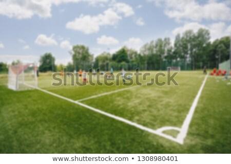 Turva quadro campo de futebol escolas verão dia Foto stock © matimix
