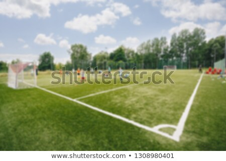 wazig · foto · voetbalveld · school · zomer · dag - stockfoto © matimix