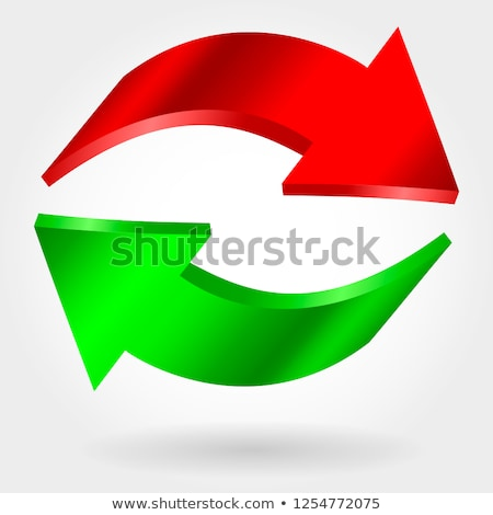 Counter red and green arrows. Photorealistic 3d illustration. Exchange and recovery symbol. Stock photo © ESSL