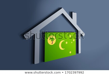 House with flag of cocos islands Stock photo © MikhailMishchenko