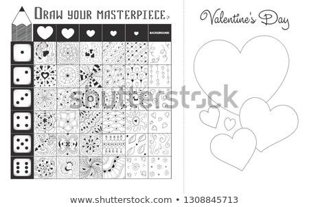 educativo · pattern · gioco · pagina · bianco · nero · cartoon - foto d'archivio © olena