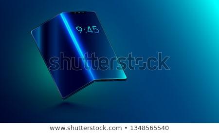 смартфон крошечный деловые люди гибкий экране электронных Сток-фото © RAStudio