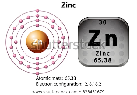 Zinc atome diagramme illustration design technologie Photo stock © bluering