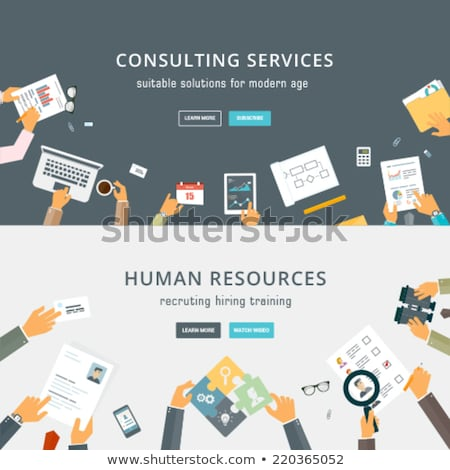 Consulting services design style web bannière Photo stock © Decorwithme