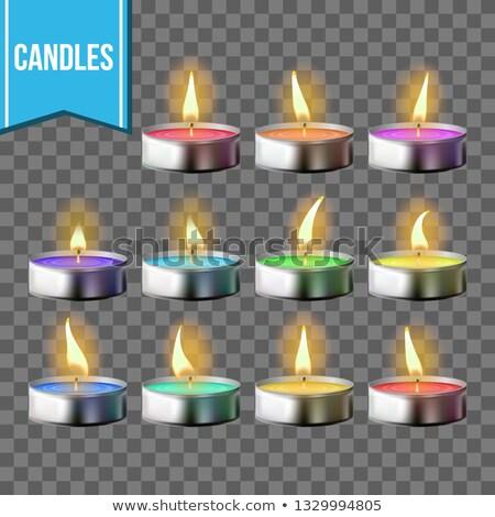 bougies · vecteur · transparent · symbole · méditation - photo stock © pikepicture