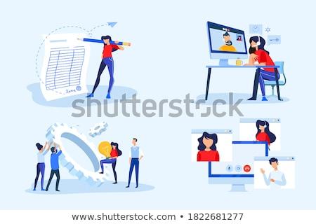 Online Workflow Management Konferenz Sitzung Video Stock foto © robuart