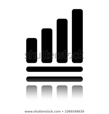 Ok büyüme grafik ikon yalıtılmış beyaz Stok fotoğraf © kyryloff