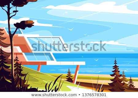 designer house on seashore stock photo © jossdiim