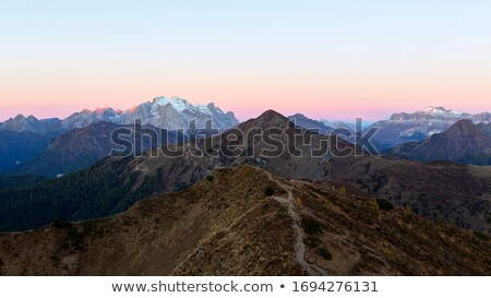 Marmolada mountain peak covered in snow Stock photo © frimufilms