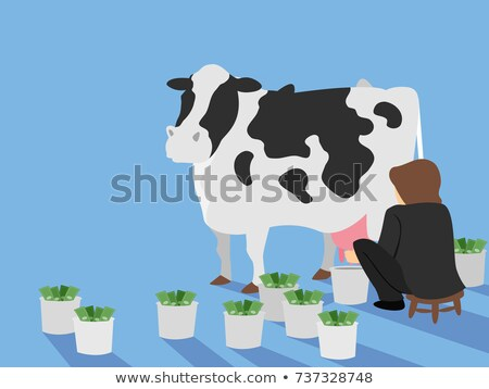Man Cash Cow Illustration Stock photo © lenm