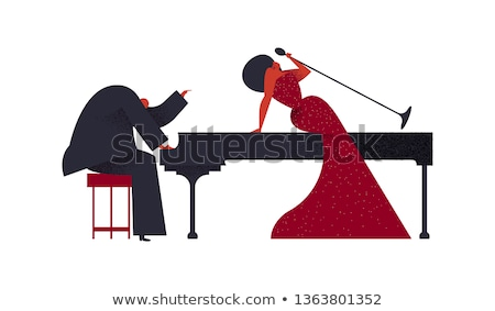 Stock photo: Jazz Band Of Piano Player And Singer