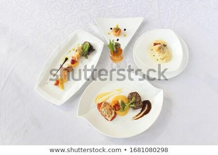 Establecer occidental cocina ilustración fondo arte Foto stock © colematt