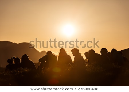 Group of scout hiking Stock photo © bluering