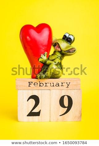 Dokuz kurbağa ahşap afiş örnek ahşap Stok fotoğraf © colematt