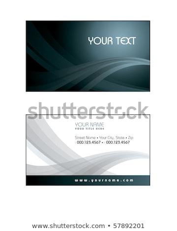 Wizytówkę szablon niebieski falisty stylu streszczenie Zdjęcia stock © SArts