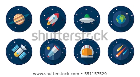 UFO flat icon set Stock photo © netkov1