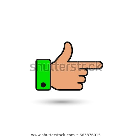 Stock photo: Male Hand Pointer Finger Showing Color Gesture Vector