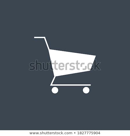 Alışveriş sepeti vektör ikon yalıtılmış beyaz dizayn Stok fotoğraf © smoki
