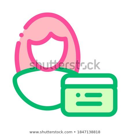 Cosmetische manager vector dun lijn Stockfoto © pikepicture