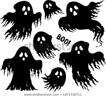 fantasmas · conjunto · arte · preto · outono · mistério - foto stock © clairev