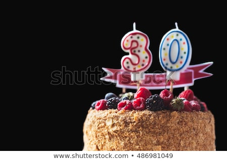 Festive cake with golden candles - Number 30 Stock photo © Zerbor