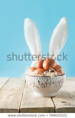 frango · ovos · ilustração · muitos · madeira · assinar - foto stock © bluering