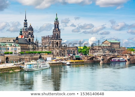 view of dresden cathedral and semperoper dresden germany stock photo © borisb17