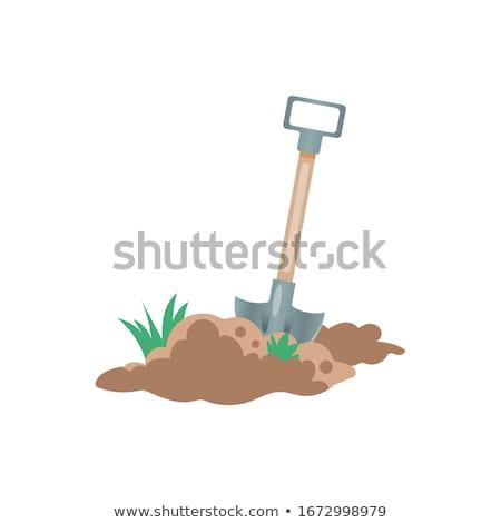 Jardineiro pá solo fazenda vetor homem Foto stock © robuart