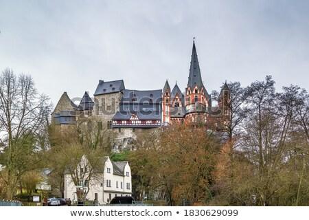 catedral · castelo · Alemanha · ver · rio · noite - foto stock © borisb17