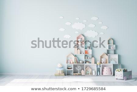 Criança criança jogar brinquedos casa Foto stock © Lopolo
