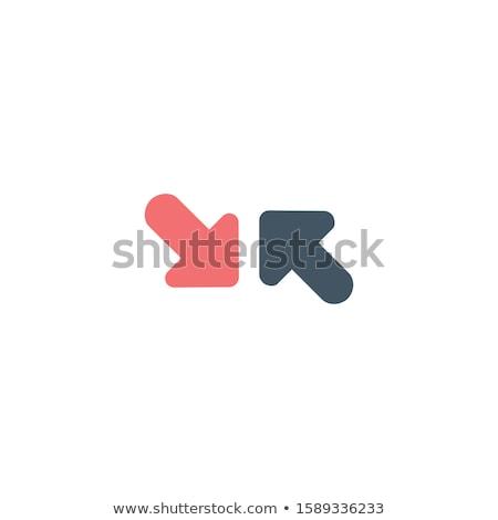 Beslissing pijlen tegenover richting voorraad geïsoleerd Stockfoto © kyryloff