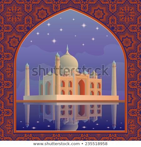 illustration · Taj · Mahal · silhouette · bâtiment · design · web - photo stock © mayboro