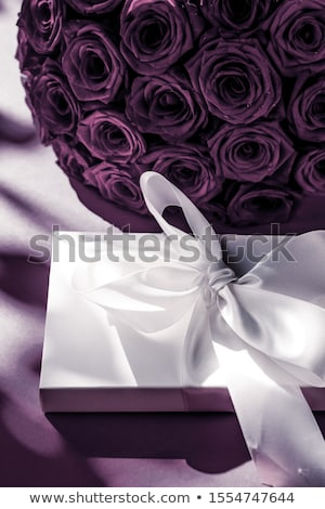 高級 休日 シルク ギフトボックス 花束 バラ ストックフォト © Anneleven