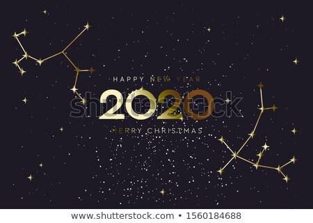 Gelukkig nieuwe jaar vrolijk christmas sterrenbeeld Stockfoto © ikopylov