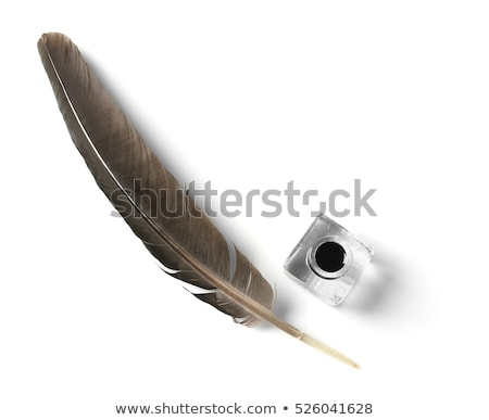 Quill Pen Feather and Inkwell Concept Stock photo © Krisdog