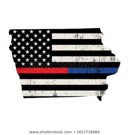 Iowa bombeiro apoiar bandeira ilustração bandeira americana Foto stock © enterlinedesign