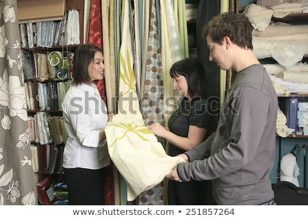 A home design shop with emploee clerk Stock photo © Lopolo
