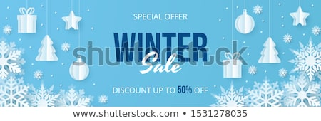 Stock photo: Winter Holidays Discounts and Sales Offers Vector