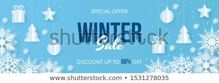 Inverno férias de vendas vetor oferta lojas Foto stock © robuart
