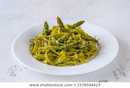Spinazie asperges voedsel ei Stockfoto © Alex9500